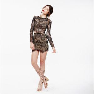 "FLL ""Grace"" high-waist lace skirt — LIKE NEW"